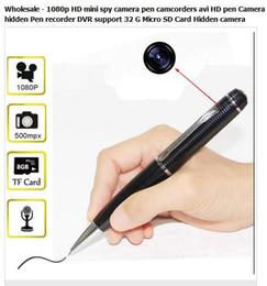 Wholesale 1080p HD mini spy camera pen camcorders avi HD pen Camera hidden Pen recorder DVR support G Micro SD Card Hidden camera spy pen camera