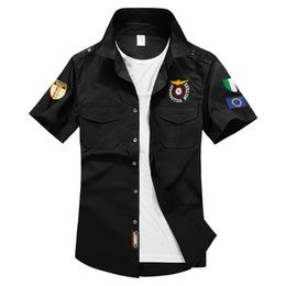 Wholesale Men s Short sleeved Shirt Brand Aviation Industry Tactical Air Force One Men s Shirt Short sleeved Shirt Embroidered