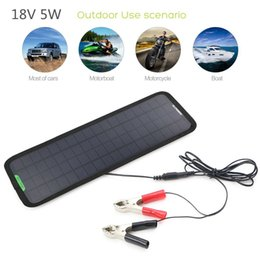 Wholesale New V W Portable Solar Panels Sunpower Car Boat Panel Battery Charger Maintainer for Automobile Motor Tractor Boat outdoor Battery bank