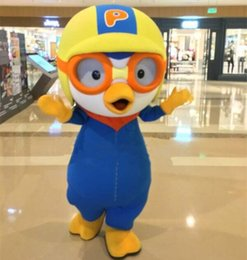 Wholesale 2016 New Penguin Cartoon Character Fancy Party Dress Pororo Mascot Costume Carnival or Commercial Activities