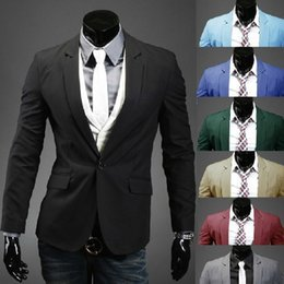 Wholesale 2016 New mens casual blazer slim fit jacket Year Special a buckle multicolor classic casual men s suits blazer men men blazer