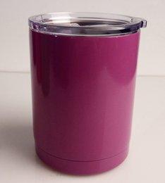 Acheter en ligne Eaux fraîches-6 couleurs YETI rambler gobelets Cooler Yeti Lowball Bouteille Rambler 10 oz Rambler en acier inoxydable Bouteille d'eau Yeti Coolers Mug