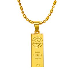 Wholesale GOLD WE TRUST Australian Hot Sale Mens K Gold Plating Bullion Pendants Necklace Jewelry Hip Hop Chains Trendy Bullion Necklaces