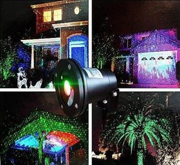laser outdoor lights Waterproof IP65 Laser Firefly Stage Lights Landscape Red Green Projector Christmas Garden Sky Star Lawn Lamps DHL