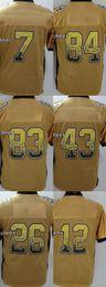 Wholesale 2016 Newest Drift Fashion brown miller polamalu bell bradshaw roethllisberger yellow Elite Football Jerseys