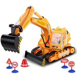 Wholesale 2 GHZ overclocking technique Living stones super sized remote wireless charging excavator toy moving truck excavator RC toys kg Large