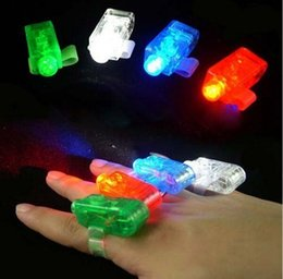2016 laser conduit doigts Laser doigt Finger LED Lampe Finger Lumières LED Anneau Glow Laser Finger Poutres LED clignotant Parti flash annulaire KKA422 budget laser conduit doigts