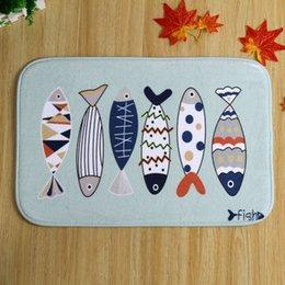 Wholesale Cartoon DIY Anti Slip Bath Mats Brand New Polyester Coral Fleece Rectangle Bathroom Carpet Sets cm
