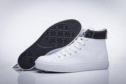 Compra Online Altos tops hombres 45-DORP ENVÍO NUEVO 35-45 Nueva unisex cremallera bajo-top del alto-top adultos hombres de las mujeres ató los cordones de los zapatos ocasionales de la zapatilla de deporte