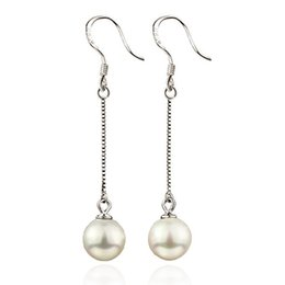 925 sterling silver jewelry free shipping freshwater pearl ball earrings charms girl woman hot sale earring