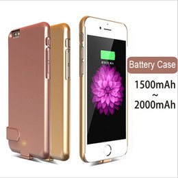 Ultra Thin 2000mAh Power Case Rechargeable Emergency Battery Backup Charger Power Bank Battery Case for 4.7 iPhone 6 6S 5.5 Plus
