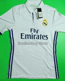 Wholesale DHL shipping Best thailand quality real madrid club player version soccer Shirts RONALDO JAMES MORATA KROOS BENZEMA soccer shirts