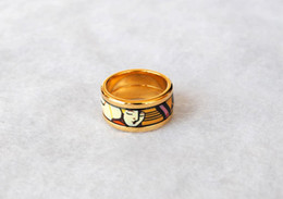 Dreams and Roses Series rings 18K gold-plated enamel rings Top quality ring for women band rings for gift