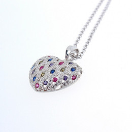 women's fashion jewelry 925 sterling silver jewelry NSCD Synthetic Diamond Engagement Wedding Pendants necklace fine bridal Jewelry sets 632