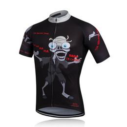 Acheter en ligne Cuissard vente-Vente chaude nouveau cyclisme Chemises Hauts Hommes Vélo Costumes Maillot cyclisme Shorts Kits Top Shirt Culotte Set M-XXL Zombie style
