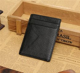 Wholesale 2016 New JINBAOLAI slim leather credit card bank card sets of documents small work permits Package