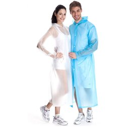 Wholesale Emergency Raincoat Camping Adult Girls Unisex Transparent Boys Waterproof Raincoats Women Fashion Candy EVA Breathe Rain Coat Rainwear
