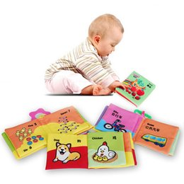 Wholesale Infant Baby Cloth Books Word Picture Intelligence Development Toys Early Learning Coloring Book VE0086
