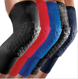Wholesale Honeycomb Knee Pad Crashproof Antislip Basketball Leg Long Sleeve Protector Gear