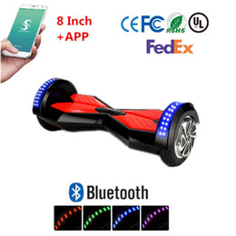 "8"" Led Scooter Bluetooth Hoverboard Smart Balance Wheel Electric Skateboard With APP UL Battery Self Balancing Scooter"