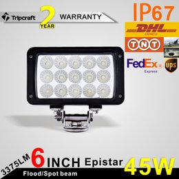 Wholesale HOT SALE W x W Waterproof Offroad Car LED Work Light Lamp Bar with Epistar LEDs for Motorcycle Tractor Boat SUV ATV