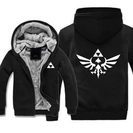 2017 Hoodies 3d Print Zelda Legend ZELDA Thick Hooded Sweater Autumn and Winter Clothing Plus Cashmere Jacket Plus Size M-5xl