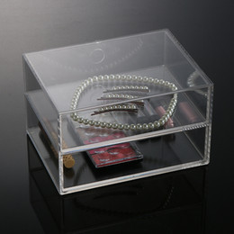 Wholesale New Arrival High Quality Acrylic Cosmetic Organizer Boxes Clear Makeup Jewelry Cosmetic Storage Display Box MN C