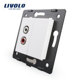Wholesale Livolo White Plastic Materials EU Standard Function Key For Audio Socket VL C7 AD