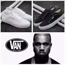 Wholesale Van Kanye West Same Original Fashion Casual Shoes White Black For Men Women Sports Shoes
