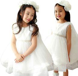 Prettybaby kids girls sleeveless sequins lace princess party dress pearl decoration layered gauze tutu dress Pt0511#