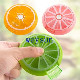 Wholesale Health Care Medicine Pill Box Fruit Shaped Sort Vitamin Day Weekly Holder Tablet Storage Case Container Cases