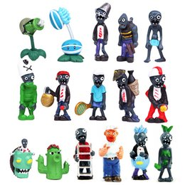 Wholesale 16 X Plants Vs Zombies Toys Series Game Role Figure Display Toy PVC Gargantuar Craze Dave Dr Zomboss