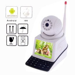 Wholesale P2P Network Camera Video Call Mobile w quot TFT LCD Phone Camera IP Wireless Webcam Baby Monitor Wifi Bullet Security Camera