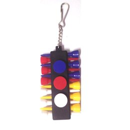 Golf Tee Holder Carrier Tees Shelf with 3 Ball Markers with Keychain