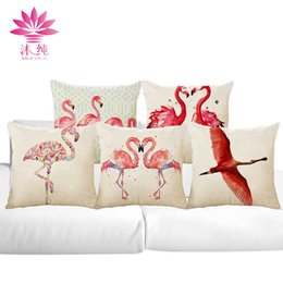 muchun Brand Flamingo Style Christmas Linen Pillow Cover Square Halloween Party 45*45cm Home Textiles Decorative Pillow Case
