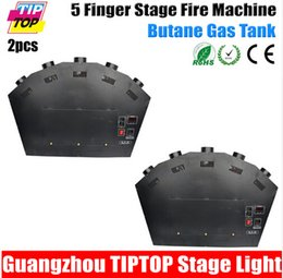 Wholesale Freeshipping Unit Colorful Finger Stage Fire Machine W China Supplier DMX512 Control LCD Screen Nozzle Fire Projector