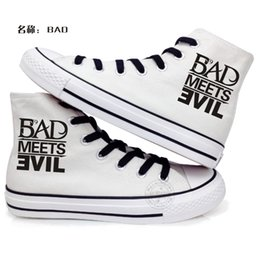 Wholesale New Arrival Eminem Logo Canvas Outdoor Leisure Fashion Sneakers Unisex Casual Shoes Hot Items Hiphop Marshall Bruce Mathers III Bad Guy