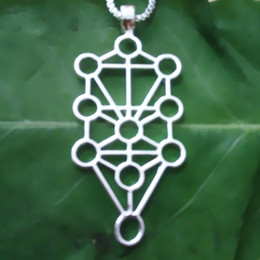 Wholesale Supply Handmade Sephirot II (Kaballah Tree of life) pendant Silver Gold plated necklaces & pendants for women pendant Free Shi