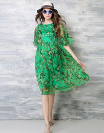 Wholesale 2016 news style lady s street style clothing red and green color can choose printing dress for dresses for street style