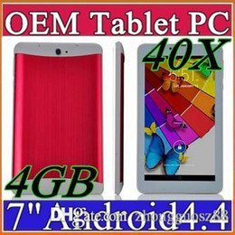 Wholesale Cheap Wifi Sim Tablets - 40X 2015 cheap 7 inch 3G Phablet Android 4.4 MTK6572 Dual Core 4GB Dual SIM GPS Phone Call WIFI Tablet PC With Bluetooth EBOOK B-7PB