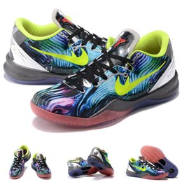 Wholesale with shoes Box Kobe VIII low Men Basketball Shoes System Prelude FTB Fade To Black Kids shoes