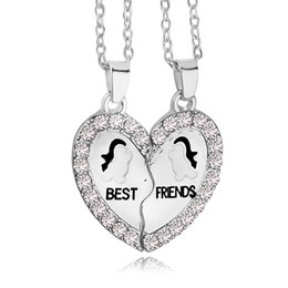 Wholesale 2016 New Design BFF Pendant Necklace Friendship Best Friends Forever Necklaces Penguin Anchor for best friend ZJ