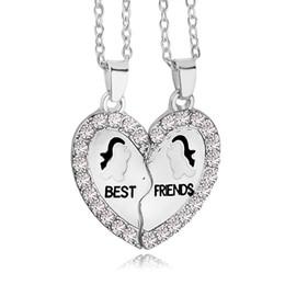 2018 New Design BFF Pendant Necklace Friendship Best Friends Forever Necklaces Penguin Anchor Wholesale for best friend ZJ-0903711