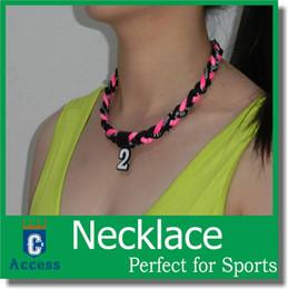 Wholesale 2016 Titanium Ionic Sports Baseball Necklace quot quot quot quot rope Tornado Braid necklaces