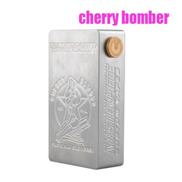 Wholesale Cherry Bomber Mechanical Box Mod APC Cherry Bomber Mod Fit With Dual Battery For RDA Atomizer DHL