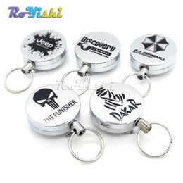 1pcs Recoil Extendable Metal Wire 60cm Key Chain Ring Clip Pull Keyring Retracting
