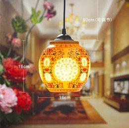 Wholesale Antique Retro Ceramic Lamp Vintage Lamp Loft E27 V Porcelain Pendant Lamp Indoor Lighting Dining Lighting Fixtures