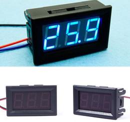 Wholesale Hot piece DC V Blue LED Digital Display Voltage Voltmeter Panel Motorcycle good quality low price