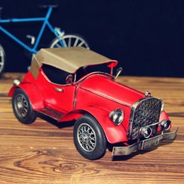 Wholesale whoesales zakka ehicle simulation model Restoring ancient ways wrought iron car model runabout American truck model