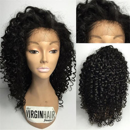 7A Full Lace Human Hair Wigs For Black Women Brazilian Curly Hair Lace Front Wigs Glueless Full Lace Wigs With Baby Hair